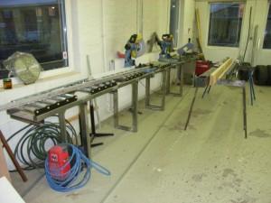 Vores skærebord nå vi laver stålrammer.
